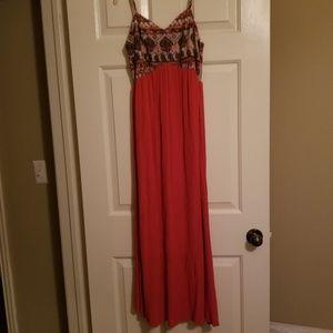 Maxi Dress. Orange. Good Condition.